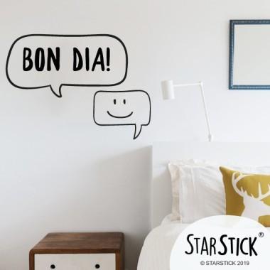 Bonjour - Stickers décoratifs phrases et citations
