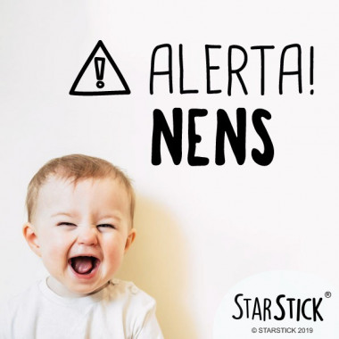 Alerte! Les enfants - Stickers décoratifs phrases et citations