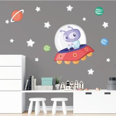Extraterrestre - Vinilo decorativo para niños y niñas