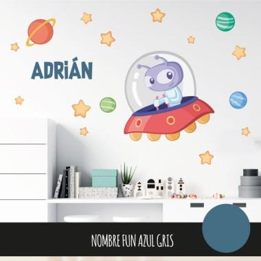 Extraterrestre - Sticker décoratif pour garçons et filles