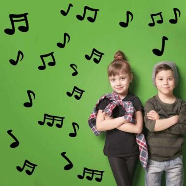 Notes musicals - Vinils infantils decoratius Vinils educatius / escoles Vinil de paret amb notes musicals de diferents colors i mides. Cada nota és independent i es pot enganxar a la paret amb la composició que cada un prefereixi. Es pot triar notes de tots els colors o dos colors concrets. Mides aproximades del vinil enganxat (ample x alt) Basique70x40 cm Petit:125x70 cm Moyen:150x100 cm Grand:200x120 cm AFEGEIX UN NOM PER EL VINIL DE 9,99€   vinilos infantiles y bebé Starstick