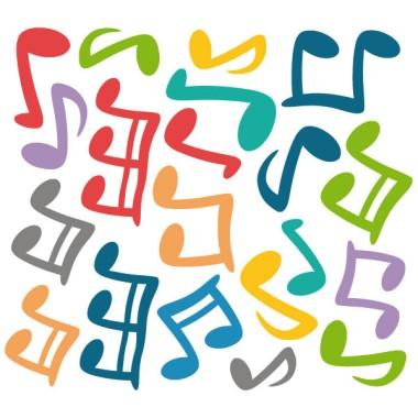 Notes musicals - Vinils infantils decoratius Decoració escoles Vinil de paret amb notes musicals de diferents colors i mides. Cada nota és independent i es pot enganxar a la paret amb la composició que cada un prefereixi. Es pot triar notes de tots els colors o dos colors concrets. Mides aproximades del vinil enganxat (ample x alt) Basique70x40 cm Petit:125x70 cm Moyen:150x100 cm Grand:200x120 cm AFEGEIX UN NOM PER EL VINIL DE 9,99€   vinilos infantiles y bebé Starstick