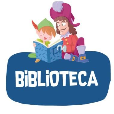 Peter Pan i Garfio llegint - Cartell de senyalització. vinil infantil