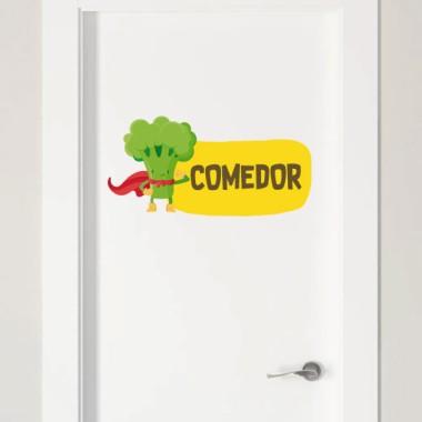 Súper brócoli - Cartel de señalización personalizable