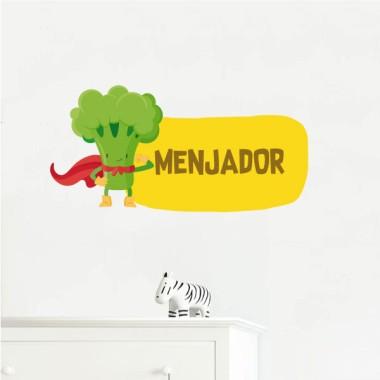 Super brocoli - Affiche de signalisation Signalisation Taillede la feuille/montage Petit:20x20cm Grand:30x30cm  vinilos infantiles y bebé Starstick