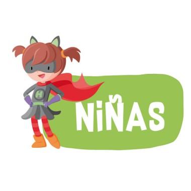 Superheroïna - Cartell de senyalització. vinil infantil