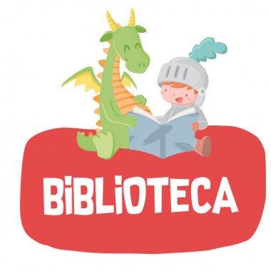 Dragon et chevalier lisant - Affiche de signalisation