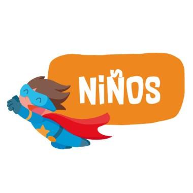 Superhéroe Niño - Cartel de señalización. Vinilo infantil