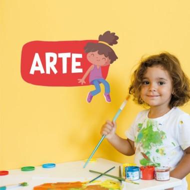 Nena - Cartell de senyalització. vinil infantil