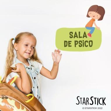 Nena 2 - Cartell de senyalització. vinil infantil