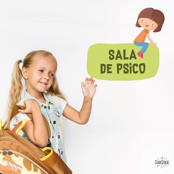 Fille 2 - Affiche de signalisation Signalisation Taillede la feuille/montage Petit:20x20cm Grand:30x30cm  vinilos infantiles y bebé Starstick
