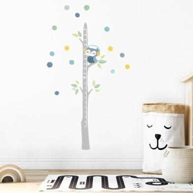 Vinilo medidor - Búho con confeti