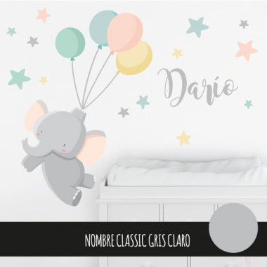 Vinils infantils - Elefant amb globus