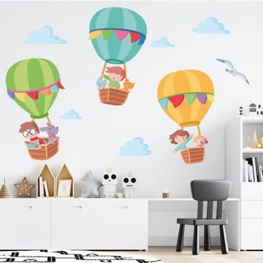Aventura amb globus - Vinil infantil per a nens i nadons