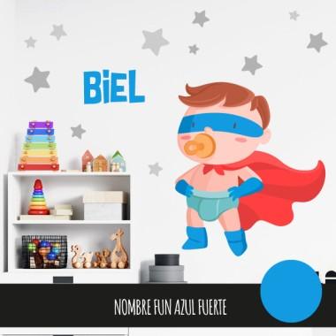 Vinilos para bebé - El bebé superhéroe - Niño