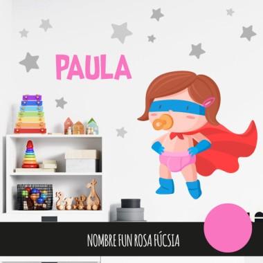 Stickers bébé - Bébé super-héros - Fille
