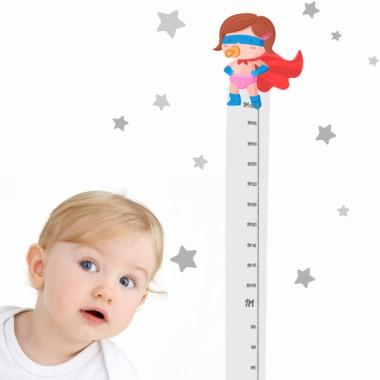 Autocollant compteur - Le bébé super-héros - Fille