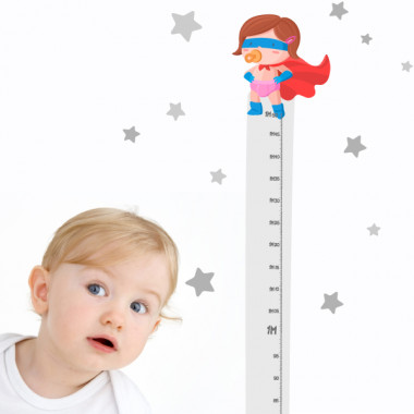 Vinilo medidor - El bebé superhéroe - Niña