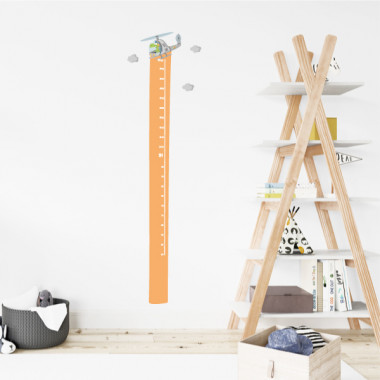 Autocollant compteur enfant - Hélicoptère avec crocodile Toises Drôle de ruban à mesurer avec un hélicoptère et un crocodile pilote intrépide. Parfait pour décorer les chambres d'enfants et, en même temps, mesurer les petits à la maison. Idées exclusives de la marque StarStick pour décorer les chambres d'enfants.  Dimensions du vinyle (largeur x hauteur)  Taille du montage: 42x135 cm Taille de la feuille: 20x135 cm  Comprend 16 étiquettes pour marquer ce que vous voulez! vinilos infantiles y bebé Starstick