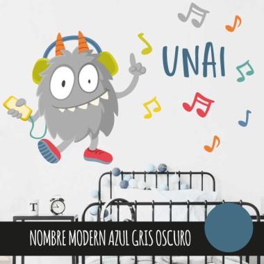 Music Monster - Sticker décoratif pour garçons et filles