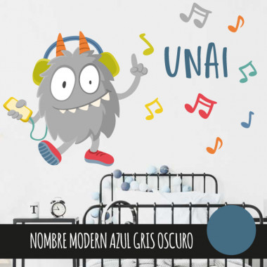 Music Monster - Vinilo decorativo infantil