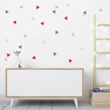 Triángulos combinación Teen-Rojo - Vinilos de pared