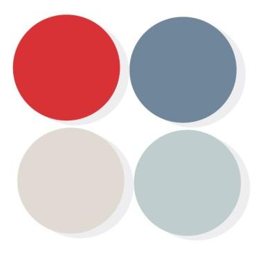 Triangles combinació Teen-Vermell - Vinils de paret