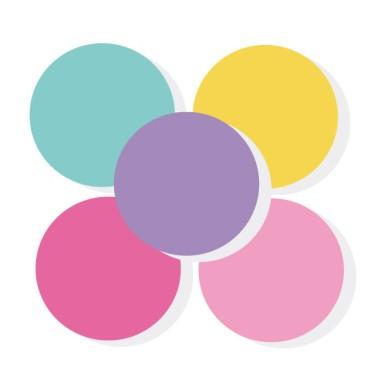 Triangle combinaison Licorne - Sticker muraux