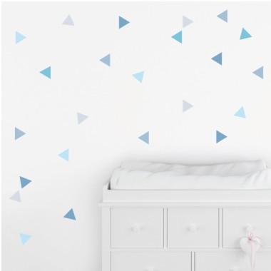 Triangles bleu bébé - Stickers muraux bébé