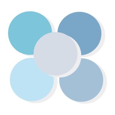 Triángulos azul baby - Vinilos de pared para bebé