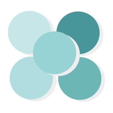 Triangles bébé turquoise - Stickers muraux bébé