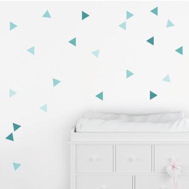 Triángulos turquesa baby - Vinilos de pared para bebé