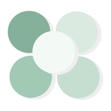 Triángulos verde baby - Vinilos de pared para bebé