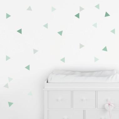 Triangles verd baby - Vinils de paret per a nadons