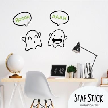 Parella de fantasmes - Vinils de paret per a la llar