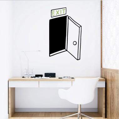 EXIT - Vinilos de pared para el hogar Vinilos casa EXIT. Decora tu casa con los vinilos más divertidos, resultones y fáciles de instalar del mercado. Vinilos para decorar paredes, muebles o cualquier superficie lisa. Éste modelo se puede adquirir con las líneas negras o blancas, y las letras se pueden personalizar con el color que más os guste. Medidas aproximadas del vinilo montado (ancho x alto) Básico.Tamaño de la lámina y montaje: 28X44 cmPequeño.Tamaño de la lámina y montaje:36X60 cmMediano.Tamaño de la lámina y montaje:48X77 cmGrande.Tamaño de la lámina y montaje: 60x110 cm vinilos infantiles y bebé Starstick