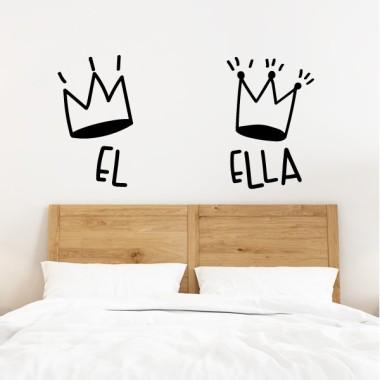 Il Elle. Couronnes décoratives - Stickers muraux pour la maison