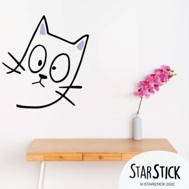 Le chat vilain - Vinyle décoratif pour la maison
