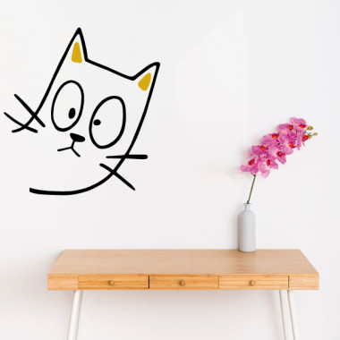 El gato travieso - Vinilos decorativos para el hogar Vinilos casa ¡Ups, creo que alguien nos espía!Estamos hartos de ver paredes aburridas. Llegó el momento de decorar de manera divertida y original. Mira todo nuestro catálogo, encontrarás vinilos para pegar en cualquier espacio de tu casa, fáciles de instalar y con unos resultados geniales.  Medidas aproximadas del vinilo montado (ancho x alto) Básico:30x34 cm Pequeño:45x53 cm Mediano:60x65 cm Grande:81X95cm Gigante: 100x135 cm vinilos infantiles y bebé Starstick