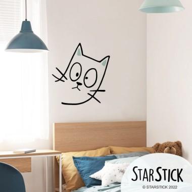 El gat entremaliat - Vinils decoratius per a la llar