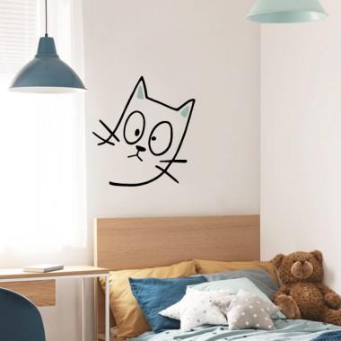 El gato travieso - Vinilos decorativos para el hogar
