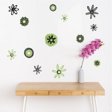 ¡Elige color! Flores Scandy - Vinilos de pared para el hogar
