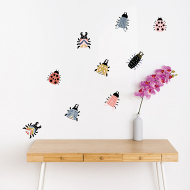 Happy bugs - Stickers maison