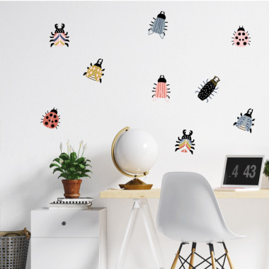 Bugs joyeux - Stickers maison