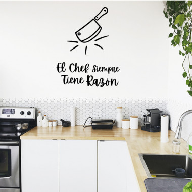 The chef is always right - Vinyles décoratifs pour cuisines