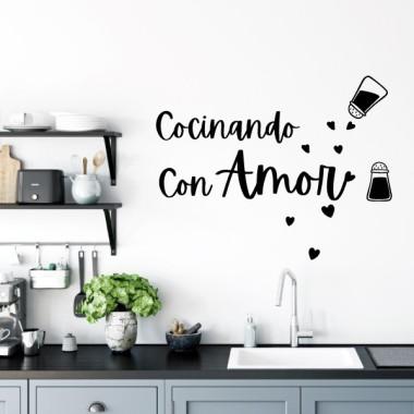 Cocinando con amor - Vinilos decorativos para cocinas