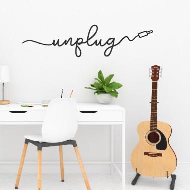 Unplug - Stickers maison