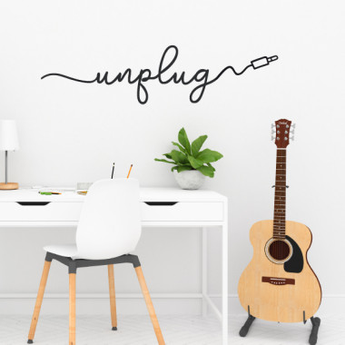 Unplug - Vinilos decorativos de pared