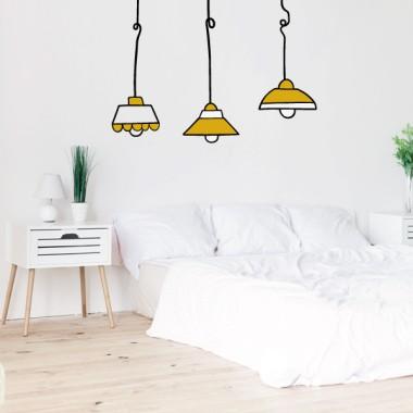 Lampes colorées - Stickers muraux