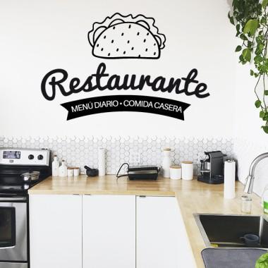 Restaurant. Menjar casolà - Vinils decoratius per a cuines